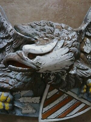 Vintage Antique Giant Cast Eagle Bellamy Federal Eagle. Barn Wall Hanging