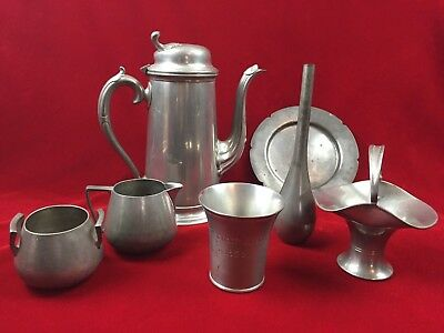 Special Lot of Antique Collectible Pewterware