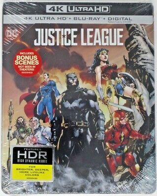 New! Justice League - Limited Edition Steelbook (4K UHD, Blu-ray, 2-Disk Set)