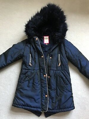 a83fa69572b1 Baker by Ted Baker - Girls  navy padded shower resistant longline coat Age  12