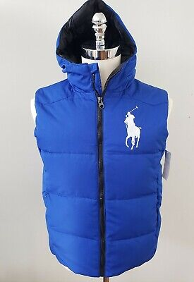 NWT Polo Ralph Lauren BOYS DOWN HOODIED PUFFER  VEST  M / L / XL #81