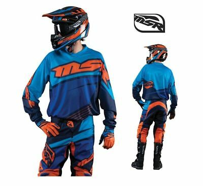 Msr Racing M15 Motocross Offroad Mx Axis Jersey Blue/orange Adult Medium