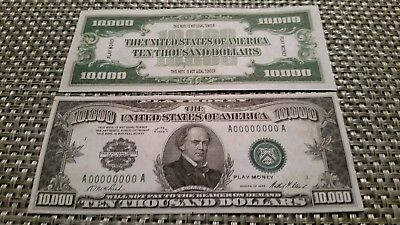 1928 United States $10,000 Banknote Reproduction Bill