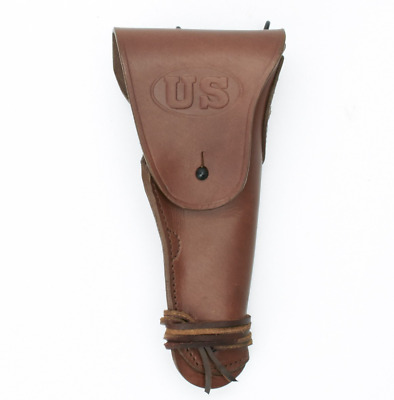 WWII US Army M1916 Brown Leather Holster for Colt 45 M1911 Pistol