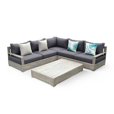 OVE Decors Beranda 3 Pieces Grey Outdoor Sectional Set