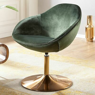 FineBuy Loungesessel SIRAN Drehstuhl Clubsessel Samt Cocktailsessel Barsessel