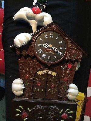 Teeety Pie And Sylvester Cukoo Clock For Spares Or Repair Un Tested