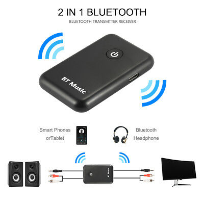 2in1 Bluetooth Receiver Transmitter Sender 3.5mm AUX Home Theater Adapter AC1235
