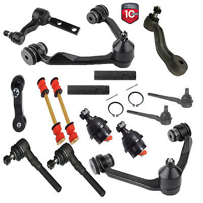 16X KIT FRONT Control Arm Ball Joint Sway Bar Tie Rod Pitman