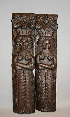 Pr Late C16th Oak Carvings
