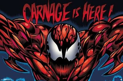 CARNAGE - IS HERE POSTER - 22x34 - MARVEL COMICS 16528