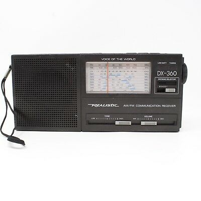 Realistic DX-360 AM FM Short Wave Radio Voice of the World Model by Radio Shack