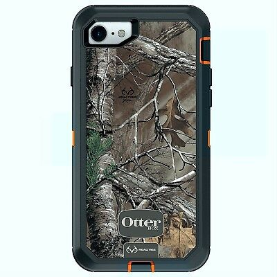 OtterBox Defender Case for iPhone 7 8 in Realtree Xtra (BLAZE ORANGE Xtra CAMO)