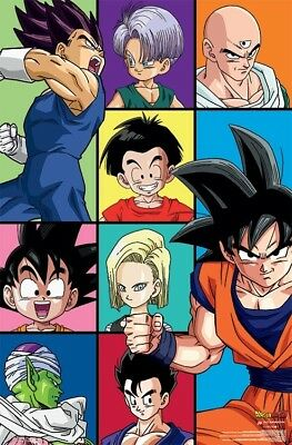 DRAGON BALL Z - CHARACTER GRID POSTER - 22x34 - 17190