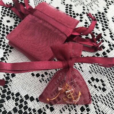 20 STUNNING SMALL LUXURY BURGUNDY ORGANZA GIFT BAGS 7cm X 5cm EARRINGS ETC