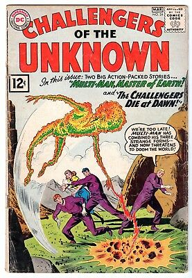 Challengers of the Unknown #24, Very Good Condition'