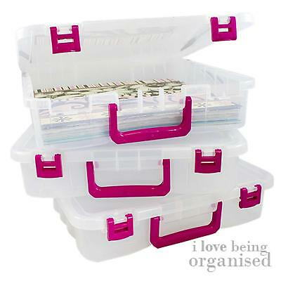 Creative Options Storage Box Stacking Container Plastic Small Clear Tray