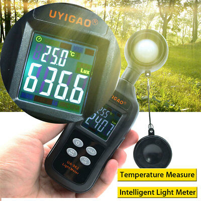 200000 Light Meter Luminometer Luxmeter Temperature Tester Lux/FC Measurement