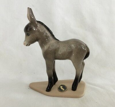 Hagen Renaker Baby Donkey On Base