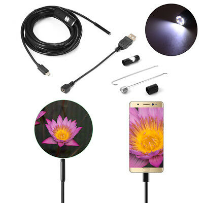 5M 6LED USB 5.5mm Endoscope Borescope Inspection Wire Camera für Android PC