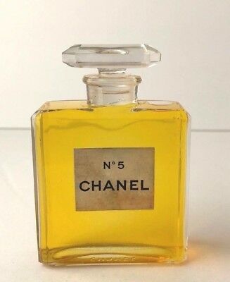 Vintage 1950's-60's Chanel No 5 Factice Store Display Glass Bottle 2.0 oz
