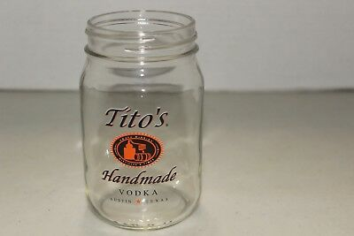 Tito's Handmade Vodka Distillery Mason Jar 16 oz.