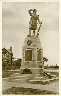 Real Photographic Postcard Of Dornoch War Memorial, Sutherland, Scotland