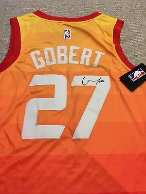 RUDY GOBERT Signed Autographed UTAH JAZZ Jersey CITY EDITION cd9719e0a