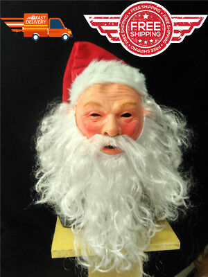 Santa Claus Face Mask Masquerade Costume Fancy Full Adult Christmas holiday