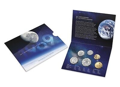 2019 Royal Australian Mint Six Coin Mint Set -  50th Anniversary of Moon Landing