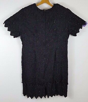 c2cf55b6 ... 24W Chaps Ruched Black Velvet Sheath Dress NWT.