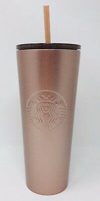 New Starbucks 2018 Holiday ROSE GOLD Travel Tumbler! Stainless Steel 24 ounces