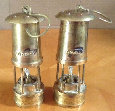 Brass Miners Style Lantern 2 Cabelas Oil Lamps Camping
