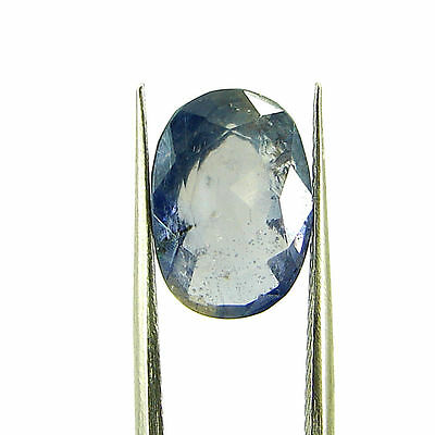 3.77 Ct Oval Natural Blue Iolite Loose Gemstone Untreated Stone - 116774