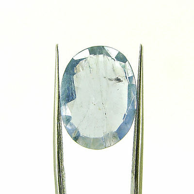 6.34 Ct Oval Natural Blue Iolite Loose Gemstone Untreated Stone - 116773