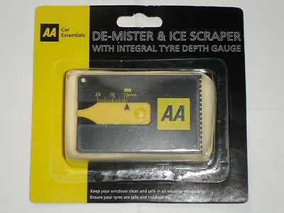 AA Windscreen Demister and Ice Scraper with Integral Tyre Depth Gauge