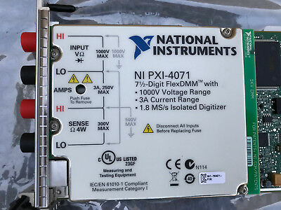 National Instruments NI PXI-4071 7½-Digit FlexDMM Digital Multimeter Module