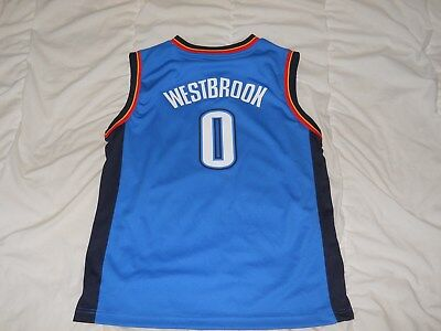 a6d3566f5 Oklahoma City Thunder Adidas Russell Westbrook Youth Basketball Jersey Size