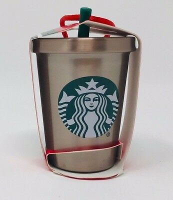 NEW  Starbucks 2018 Christmas Ornament Rose Gold Stainless Steel Cold Cup FSHIP