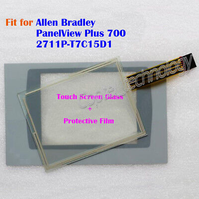 New for Allen Bradley PanelView Plus 700 2711P-T7C15D1 Touch Screen Glass + Film