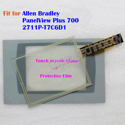 New for Allen Bradley PanelView Plus 700 2711P-T7C6D1 Touch Screen Glass + Film