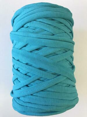 Medium T-Shirt Recycled Jersey Knitting Crochet Rug Yarn Aqua