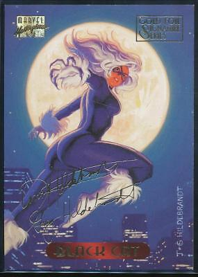 1994 Marvel Masterpieces Gold Signature Trading Card #6 Black Cat