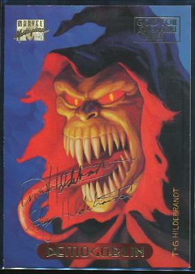 1994 Marvel Masterpieces Gold Signature Trading Card #30 Demogoblin
