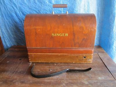 Vintage 1930  Singer Sewing Machine Bentwood Case  With Controller & Knee Bar