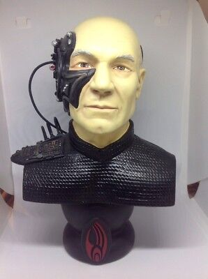 """Star Trek The Next Generation Locutus of the Borg 8.5"""" Picard Bust 1996 Statue"""