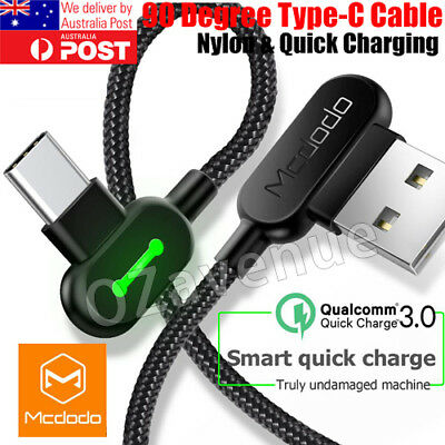 Mcdodo Braided Type-C USB-C Fast Charger Cable Cord Samsung S9 Plus S8 S10 Plus