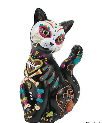 "New Day Of The Dead Cat Figurine Statue Dia Del Gato Muerto 12"" High"