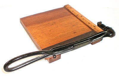 "Antique ""Diamond"" Guillotine Shear Paper Cutter, by Milton Bradley Co. Pat. 1895"