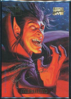 1994 Marvel Masterpieces Gold Signature Trading Card #74 Mephisto